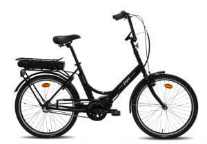 """e-jopo e-Bike 3v 24"""" - musta"""