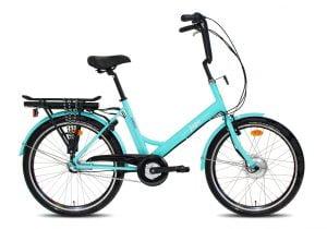 """e-jopo e-Bike 3v 24"""" turkoosi"""